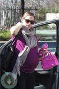 Pregnant Jennifer Garner at Violet's Ballet class