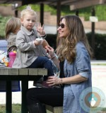 Rebecca Gayheart with daughter Billie @ Coldwater Canyon Creek Park