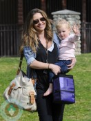 Rebecca Gayheart with daughter Billie at Coldwater Canyon Creek Park