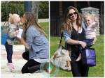 Rebecca Gayheart with daughter Billie at the Park