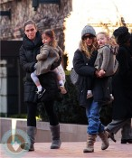 SJP picks her twins up from school