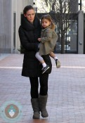 Sarah Jessica Parker picking her daughter Tabitha Broderick up from school