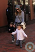 Sarah Jessica Parker with her twins Marion & Loretta