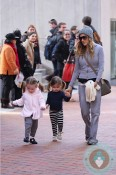 Sarah Jessica Parker with her twins Marion and Loretta