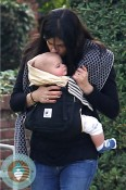 Selma Blair kisses her son Arthur