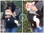 Selma Blair strolls with baby Arthur