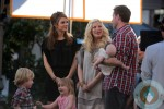 Tori Spelling & Dean McDermott with their kids filming at the Grove