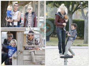 gwen, gavin and their kids enjoy the park
