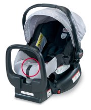 image of recalled britax Chaperone Infant Seat grey