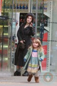 Helena Bonham Carter and daughter Nell shop at Tesco