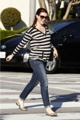 Alyson Hannigan leaving Andy Lecompte Salon