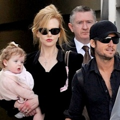 Nicole Kidman and Keith Urban Touch Down in Sydney With Their Girls