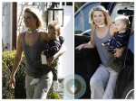 Ali Larter and baby Teddy out in LA