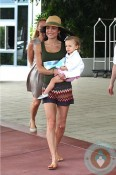 Bethenny Frankel with daughter Bryn in Miami