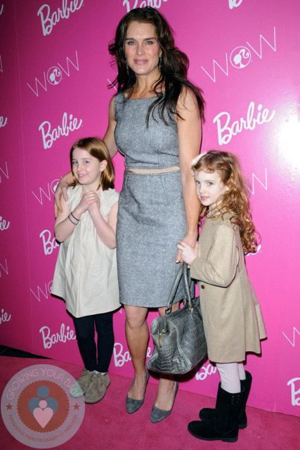 Brooke Shields with daughters Grier and Rowan Henchy ...