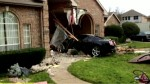 Car Crashes Through House in texas