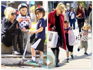 Gwen Stefani with Kingston and Zuma at the park