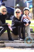 Gwen Stefani with son Kingston at the park