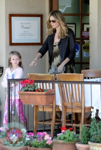 Heidi Klum with daughter Leni at a birthday party