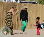 Heidi Klum with daughter Lou @ a Beach birthday pty