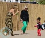 Heidi Klum with daughter Lou @ a Beach birthday pty