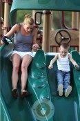 Jaime Pressly and son Dezi @ the park
