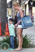 Jaime Pressly and son Dezi shopping in LA