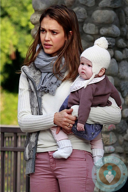 Jessica Alba The Park With Daughter Haven Growing Your