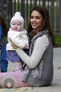 Jessica Alba at the park with daughter Haven