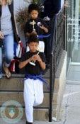 Johan and Henry Samuel at Karate
