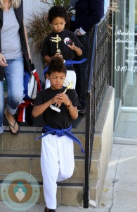 Johan and Henry Samuel at Karate