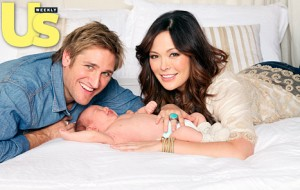 Lindsay Price and Curtis Stone with son Hudson