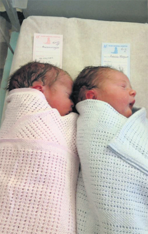 Neven Maguires twins Lucia and Connor