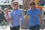 Nicole Kidman and Keith Urban with their daughter Faith