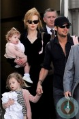 Nicole Kidman and Keith Urban with their daughters in Sydney