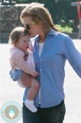 Nicole Kidman kisses her daughter Faith