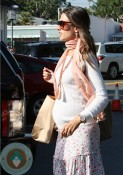 Pregnant Alessandra Ambrosioout shopping in LA