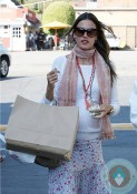 Pregnant Alessandra Ambrosioout shopping in LA 2