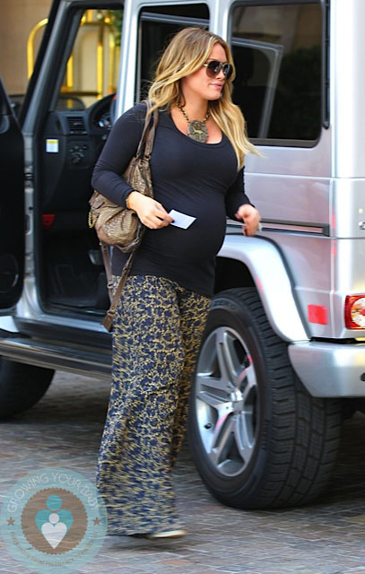 Pregnant Hilary Duff arrives @ the Montage Beverly Hills Hotel 2