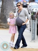 Pregnant Jennifer Garner and Violet Affleck out in LA