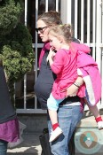 Pregnant Jennifer Garner at ballet with daughters Violet and Seraphina