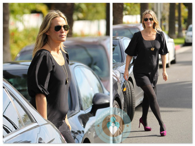 Pregnant Molly Sims leaves the farm Ranging from young nude girls