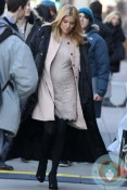 Pregnant Sienna Miller on set of 'A Case of You'