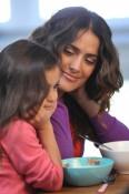 Salma Hayek and daughter Valentina in Got Milk ads