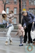 Sarah Jessica Parker does the school run with Marion and Tabitha