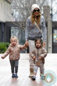 Sarah Jessica Parker takes Marion and Tabitha to school
