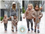 Sarah Jessica Parker with twins Marion and Tabitha in NYC