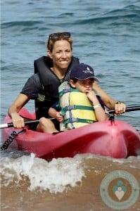Sheryl Crow with son Wyatt in Hawaii