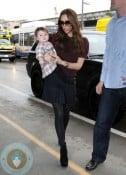 Victoria and Harper Beckham @ LAX