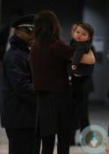 Victoria and Harper Beckham touch down in JFK